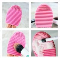 Brush egg Pembersih kuas makeup silikon jari