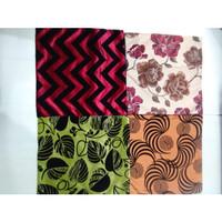 Sarung Bantal Kursi Sofa Bludru ukuran 50x50 per set isi 5 n 1 taplak