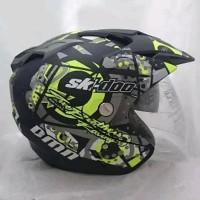 Helm Double Visor Helem SKI Kuning Setara KYT INK GM WTO NHK - Helme