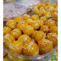 Kue Nastar Keju Premium / Nastar topping Keju / Kue Nastar Wisman Keju