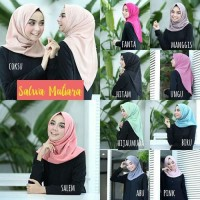 Terlaris Hijab Instan Salwa Pearly (Mutiara) - Hitam