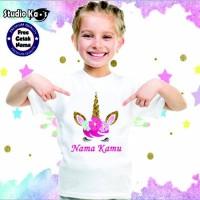 Paling Laku Baju Kaos Anak - Unicorn - Free Cetak Nama Terlaku