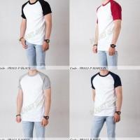 Baju Kaos Raglan Polosan Tangan Pendek Premium Cowok / Kaus Polos