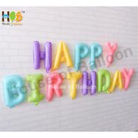 Balon Foil Huruf Happy Birthday Set Paket 13 Mickey Minnie Pastel Dop