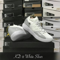 Sepatu Basket KD 11 White Silver