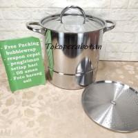 (Ojek Only) Steamer Pot Supra Stainless 30QT (28ltr) / Stock Pot Supra
