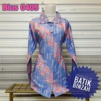 Blus Batik kode 0405 / Batik Perempuan Lengan Panjang / Batik Binzah
