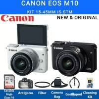 Canon Eos M10 Kit 15-45mm IS STM Paket Lengkap