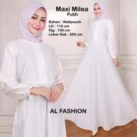 Gamis Maxi Milea Polos Baju Muslim Wanita Gamis Model Kekinian Terbaru