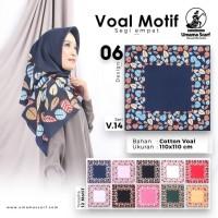 Jilbab Segi Empat Voal Motif by Umama Scarf