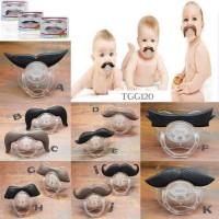 THT03 - empeng kumis bayi baby mustache pacifier teether gigitan dot