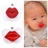 THT02 - empeng bibir lips pacifier baby teether dot gigitan bayi