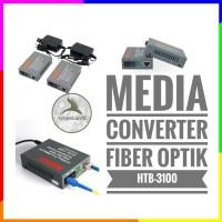 Media Converter FO 10 100 Mbps 1 Pair A Dan B Single Core Fiber Optik