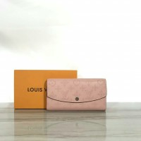 LV IRIS WALLET MAHINA MONOGRAM LEATHER PINK MIRROR QUALITY MADE IN HK!