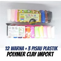 Polymer Clay Import 12 Warna - Plastisin Lilin Mainan Edukasi Anak