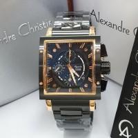 Jam Tangan Pria Alexandre Christie AC 6182 Original - Rosegold Black