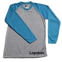 T-Shirt / Kaos Pria -- Kaos Raglan Polos Murah Unisex