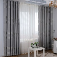 Curtains for Living Dining Room Bedroom Modern Simple Brief Silver