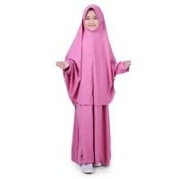 Jual Bajuyuli Baju Muslim Anak Perempuan Gamis Syar i Polos Pink WSDP0
