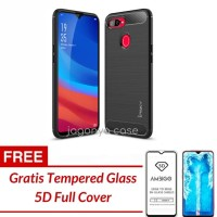 Oppo Realme 2 Pro Case Ipaky Carbon Soft Series GRATIS TEMPERED GLASS