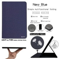 Qijun Stand Case Samsung Galaxy Tab S5E T725 - Navy Blue