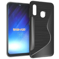 S-Line Carbon TPU Case Samsung Galaxy A20