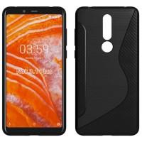 S-Line Carbon TPU Case Nokia 3.1 Plus