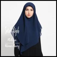 Ready Stok Setali Hijab Jilbab Khimar Instan Premium Cerutti - Navy
