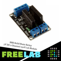 SSR Solid State Relay Module 2 Channel 5V DC untuk Arduino