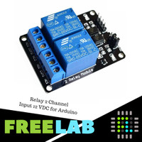 Relay 2 Channel Input 12 VDC for Arduino