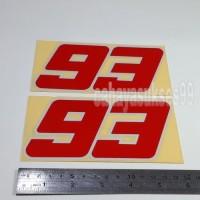 Stiker Motor 93 Merah List Putih 15cm Stiker Cutting Body Reflective