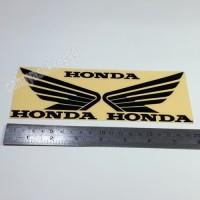 Sticker Motor Cutting Sayap Honda Hitam Size Besar Bonus Size Kecil