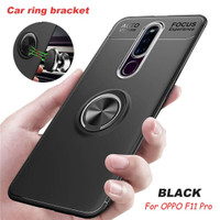 Oppo F11 pro fingerprint iRing Invisible TPU Soft Case - Free tempered