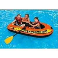 Intex Explorer Pro Boats 200 + Dayung. Perahu Karet Renang Anak 58357