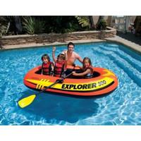 Intex Explorer Boats 300 + Dayung. Perahu Karet Renang Anak 58358