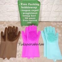 Sarung Tangan Cuci Piring 2in1 Silicone / Sarung Cuci / Sarung Tangan