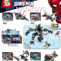 SY 1273 Spiderman 4in1 Robot venom SY1273 lego Super Hero Avengers