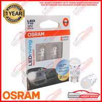 OSRAM - T10 - W5W - LAMPU SENJA - LED - RED