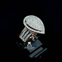 Cincin berlian fashion wanita 1.15 ct bahan emas putih kode 739