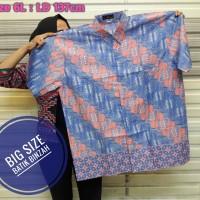 Kemeja Batik Big Size kode 0406 / Hem Batik JUMBO / Batik Binzah