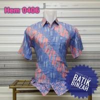 Hem Batik kode 0406 / Kemeja Batik Kantoran / Batik Binzah
