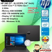 "HP 240 G7 - 6LX53PA (14"" Inch) Core i3-7020U/4GB/1TB/WIN10SL/1YEAR"
