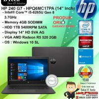 "HP 240 G7 - HPQ6MC17PA (14"" Inch) Core i5-8265U/4GB/1TB/WIN10SL/1YR"