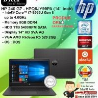 "HP 240 G7 - HPQ6JY99PA (14"" Inch) Core i7-8565U/8GB/1TB/DOS/VGA/1YR"
