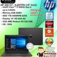 "HP 240 G7 - 6JZ07PA (14"" Inch) Core i7-8565U/4GB/1TB/VGA 2GB/DOS/1YR"