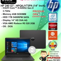 "HP 240 G7 - HPQ6JY73PA (14"" Inch) Core i5-8265U/4GB/1TB SATA/DOS/1YR"