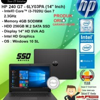 "HP 240 G7 - 6LY03PA (14"" Inch) Core i3-7020U/4GB/256GB SSD/WIN10SL/1YR"