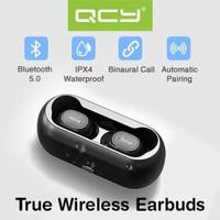 QCY T1 TWS Bluetooth 5.0 Earphones with Charging Box Original - Hitam