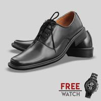 Sepatu Formal Pria S. Van Decka J-TK016 Free Jam Tangan Sport
