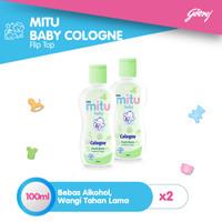 Mitu Baby Cologne Tube Green 100ml - 2pcs